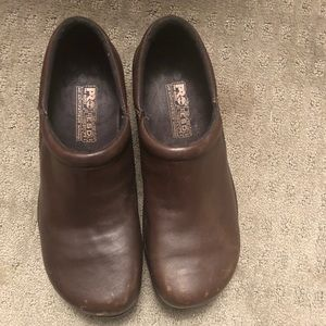 Pro ESD BROWN LEATHER Slip on Clogs SIZE 11